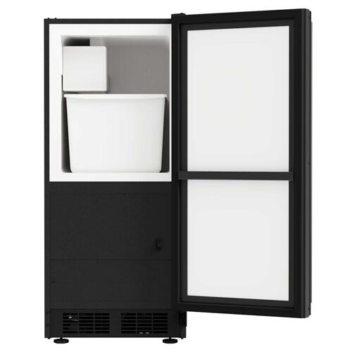 15-In Built-In Crescent Ice Maker with Door Style - Black