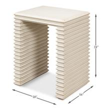 See Details - Stacked Side Table, Antique White