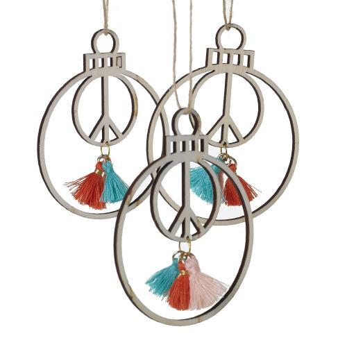 "2.5"" P/3 Paix Cutout Ornament (Tassel Option)"
