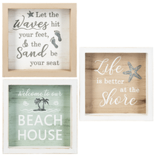 Sun Sand Sea Shadow Boxes (6 pc. ppk.)