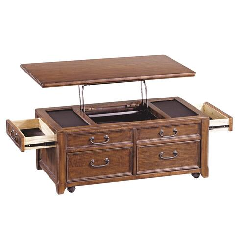 Woodboro Lift Top Cocktail Table Dark Brown Finish
