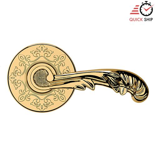 Baldwin - Lifetime Polished Brass 5121 Estate Lever with R012 Rose
