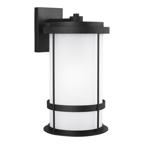 Wilburn Extra Large One Light Outdoor Wall Lantern Black