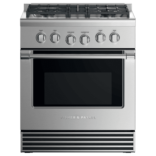 "Dual Fuel Range, 30"", 4 Burners, LPG"