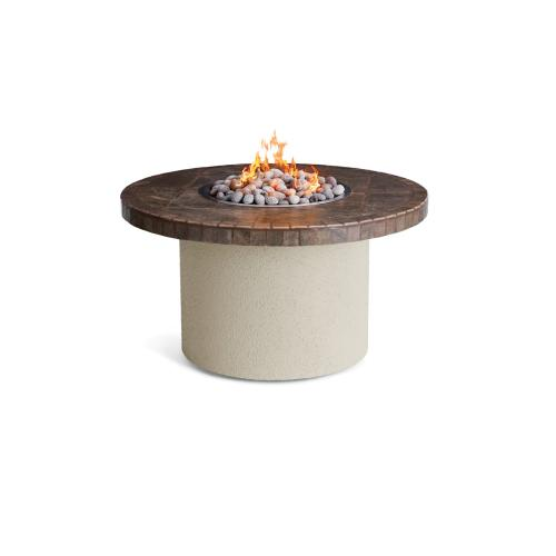 "44"" Circular Ice N Fire Pit, Contemporary Gray"