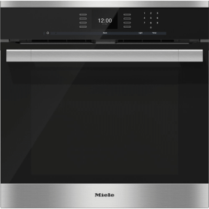 MieleH 6560 BP AM - 24 Inch Convection Oven with AirClean catalyzer and Roast probe for precise cooking.