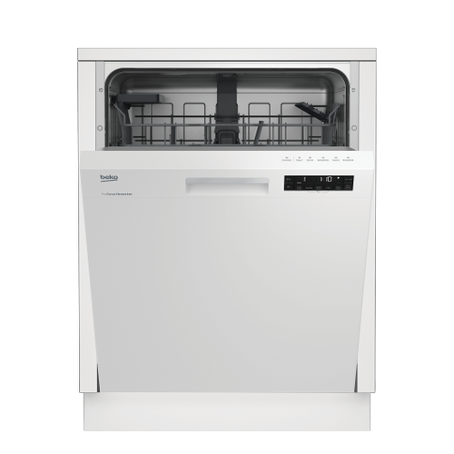 Tall Tub White Dishwasher, 14 place settings, 48 dBa, Front Control