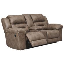 Stoneland DBL Rec Loveseat w/Console Fossil