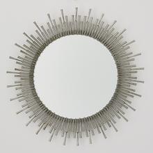Spike Mirror-Antique Nickel