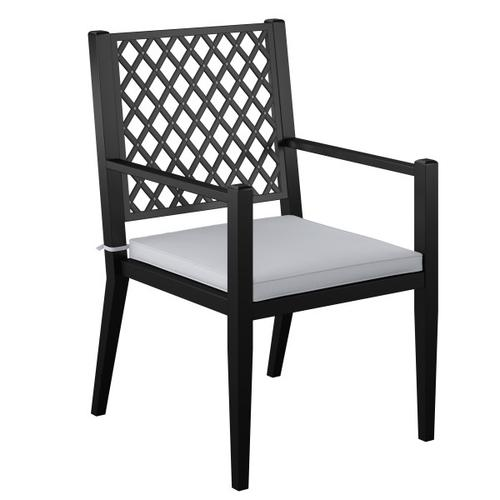 Accentrics Home - Metal Lattice Back Outdoor Dining Chairs