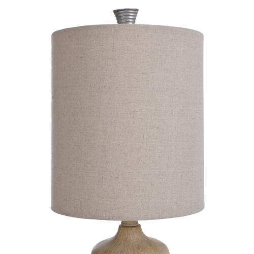 Haverhill  Traditional Resin Accent Table Lamp with Ribbed Silver Painted Band  60W  3-Way