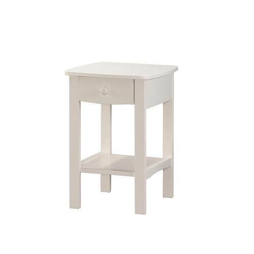 1 Drawer Nightstand-white