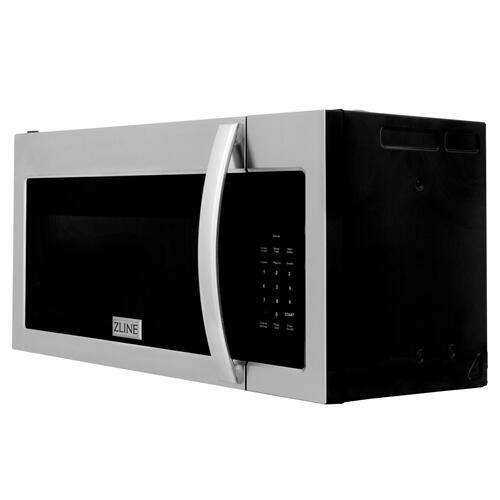 ZLINE Over the Range Convection Microwave Oven in Stainless Steel & Black Stainless Steel with Modern Handle [Color: Stainless Steel]