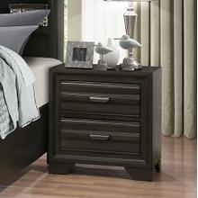 See Details - Loiret Antique Grey Finish Wood 2 Drawers Night Stands