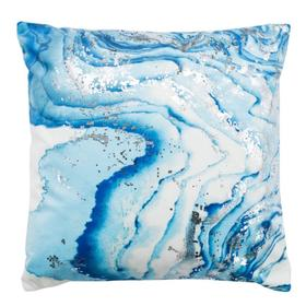 Jakki Pillow - White/blue