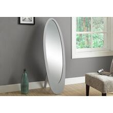 "MIRROR - 59""H / GREY CONTEMPORARY OVAL FRAME"