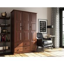 See Details - 5693 - 100% Solid Wood Grand Wardrobe - Mocha