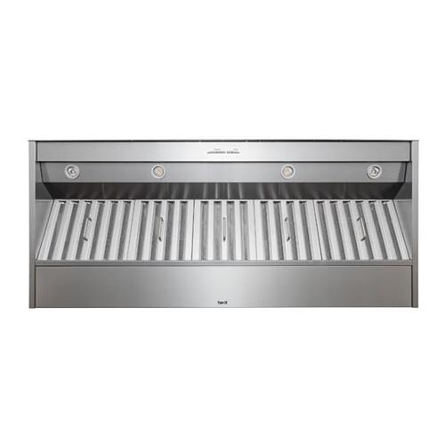 """60"""" Stainless Steel Built-In Range Hood with iQ12 Blower System, 1500 Max CFM"""