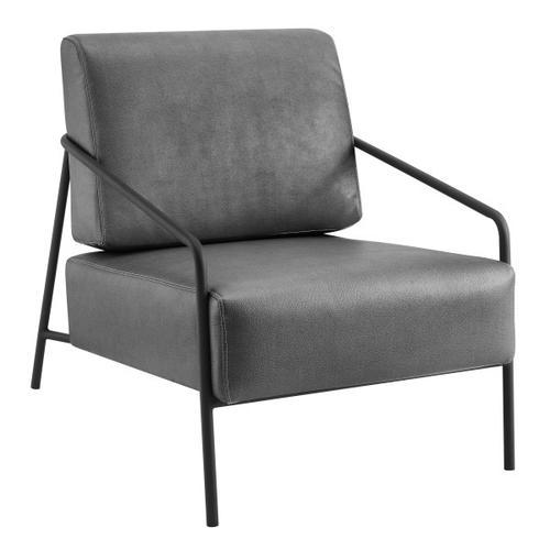 Accentrics Home - Modern Flint Accent Chair