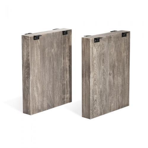 Aspen Slab Dining Base - Rustic Grey