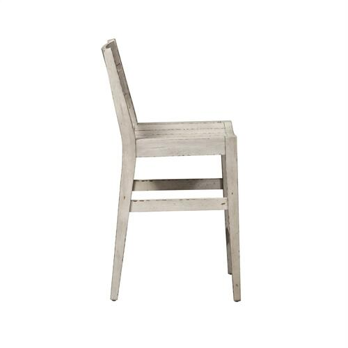 Slat Back Counter Height Chair (RTA) - White