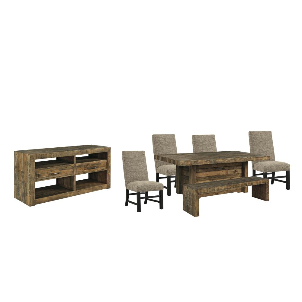 Product Image - Dining Table and 4 Chairs and Bench With Storage