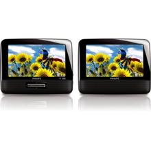 """Philips Portable DVD Player PD7012 17.8 cm (7"""") LCD Dual screens"""