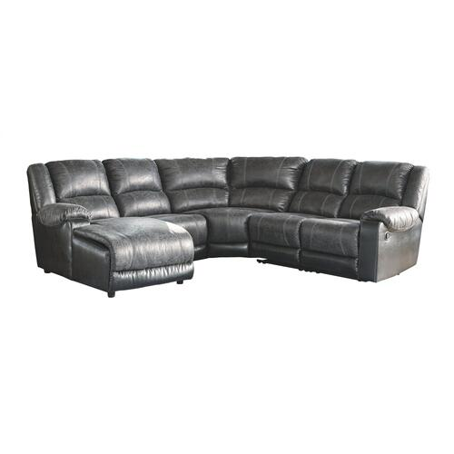 Signature Design By Ashley - Nantahala 5-piece Reclining Sectional With Chaise