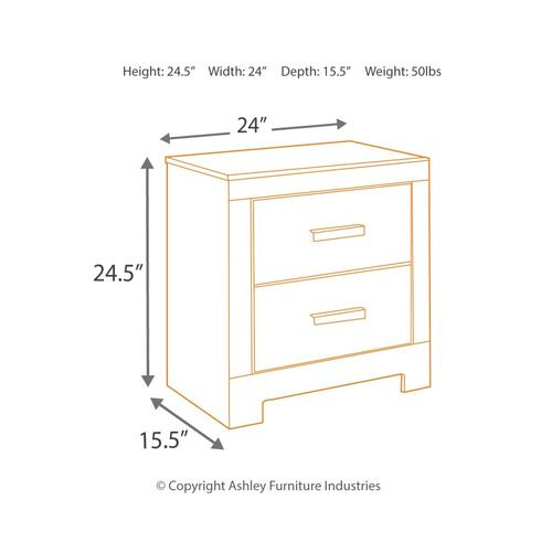 Full Panel Bed With 2 Nightstands