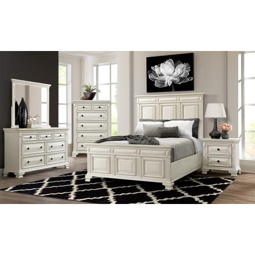 Calloway King Panel Bed in White