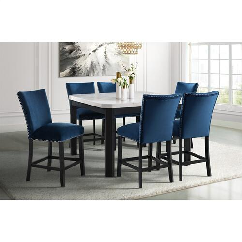 Francesca Square Counter Dining Set - Counter Table and 6 Barstools