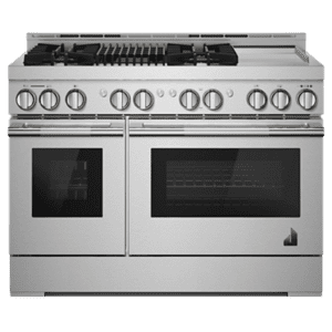 "JennAirRISE 48"" Gas Professional-Style Range with Chrome-Infused Griddle and Grill"