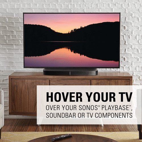 "Black Swivel TV Base for 32""-65"" TVs Designed to be Sonos PLAYBASE Compatible"