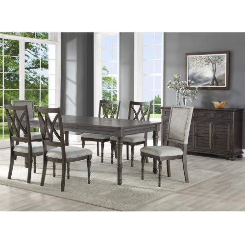 Linnett 64-80 inch Dining Table with 16 inch Leaf