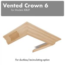 View Product - ZLINE Vented Crown Molding Profile 6 for Wall Mount Range Hood (CM6V-KBUF)