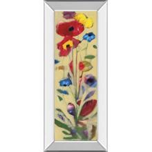 """Wildflower I"" By Jennifer Zybala Mirror Framed Print Wall Art"