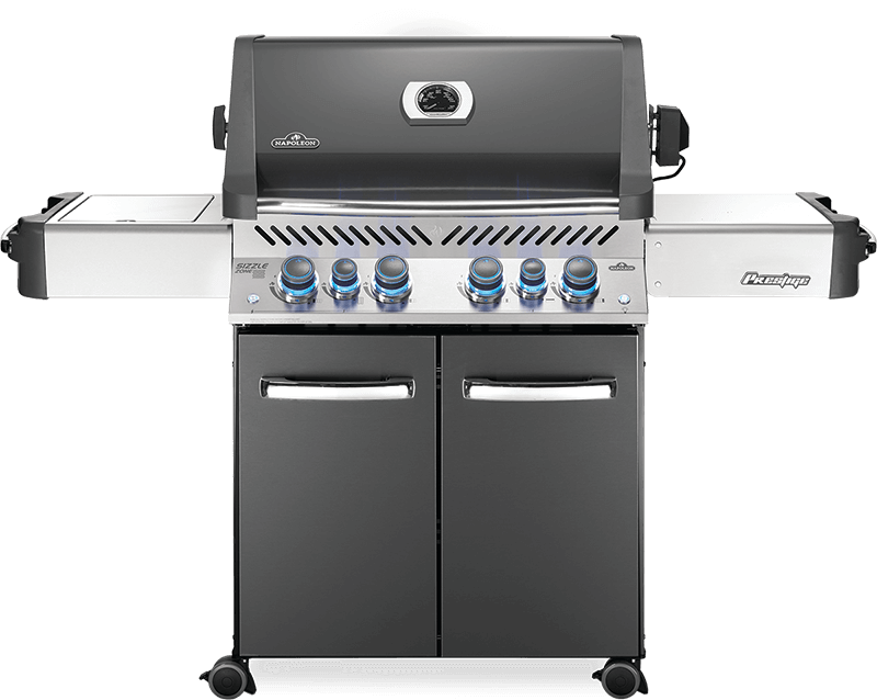 Napoleon BBQPrestige 500 Rsib With Infrared Side And Rear Burners , Grey , Natural Gas