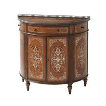 Finely Traced Side Cabinet - Movingue & Floral Gilt