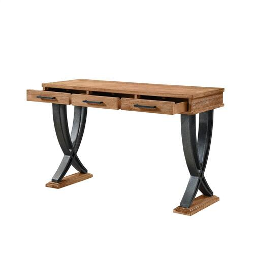 3-drawer and Two Wishbone Legs Console Table, Brown