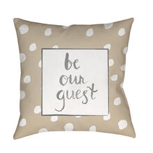 "Be Our Guest QTE-004 18"" x 18"""