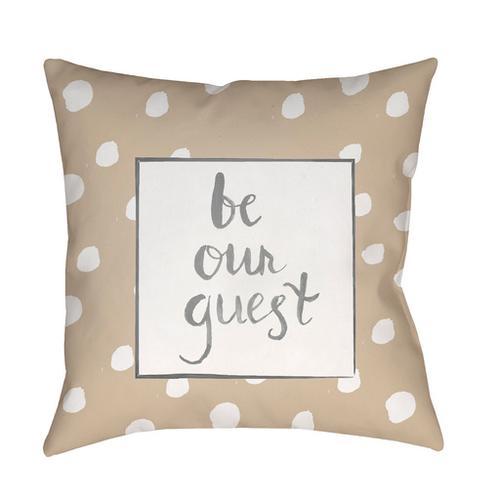 "Be Our Guest QTE-004 18"" x 18"""