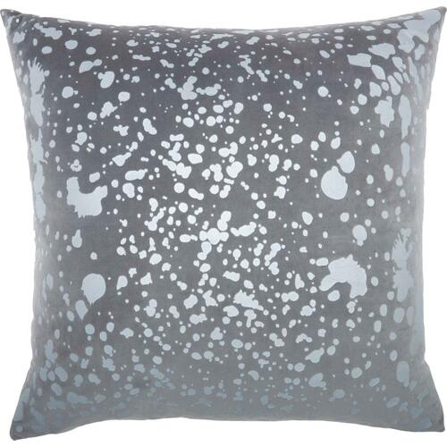 "Luminescence Qy168 Lt Grey 18"" X 18"" Throw Pillow"