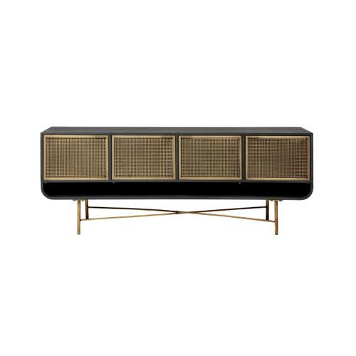 Antique Brass and Iron Sideboard
