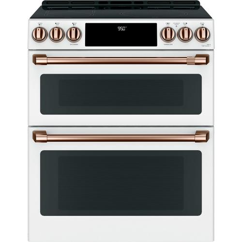 """Cafe - Café™ 30"""" Smart Slide-In, Front-Control, Induction and Convection Double-Oven Range"""