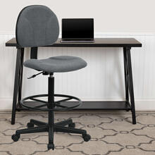 View Product - Gray Fabric Drafting Chair (Cylinders: 22.5''-27''H or 26''-30.5''H)