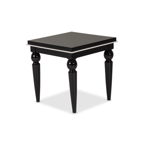 Sky Tower End Table Black Ice