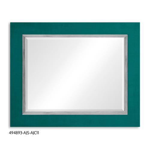 """""""Teal Homespun"""" mirror (Peacock/Silver)"""