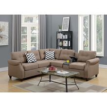 Kagiso Modular 2pc Sectional Sofa Set, Lt-coffee