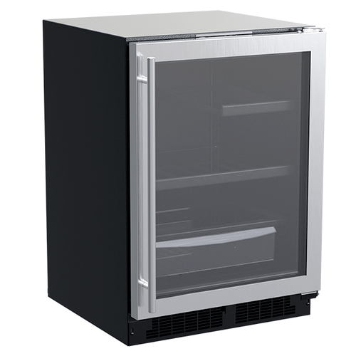 Product Image - 24-In Built-In Refrigerator With 3-In-1 Convertible Shelf And Maxstore Bin with Door Style - Stainless Steel Frame Glass