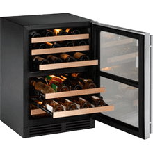 "Stainless Field reversible 2000 Series / 24"" Wine Captain® / Dual Zone System"